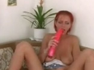 Redhead Play With Sex Tool