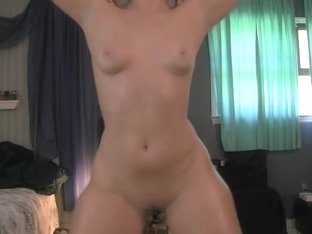 Stripping and rubbing my wet yum-yum