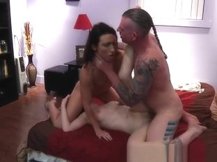 Amazing Amateur video with Threesome, Big Dick scenes