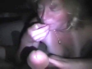 A hot mature chick blowing my dick