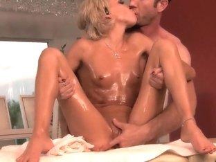 Jordan Ash pounding oiled petite Kacey Jordan