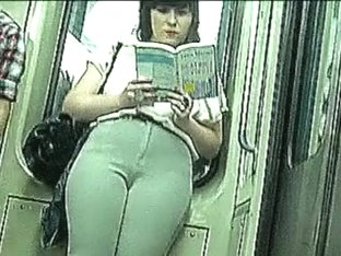 Hot voyeur camel toe spy in metro