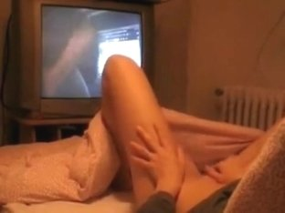 Sister watching porn and rubbing pussy