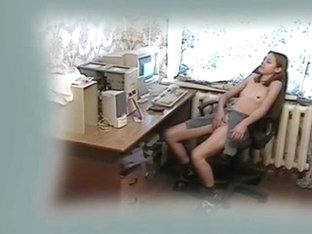 My horny girlfriend getting really wild at computer