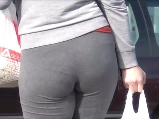 Latina Mother in Law Huge Ass Spandex VPL