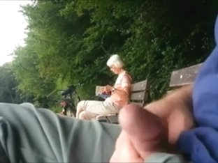Teaser - Public ejaculation for Granny in the park