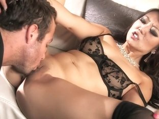 Crazy pornstar Scarlet Lavey in incredible blowjob, hardcore sex scene