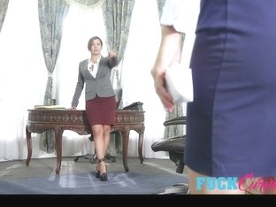 Keisha Grey and Karlee Grey in Submissive Secretary