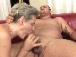 Mature Aliz fucks with her horny young neighbor