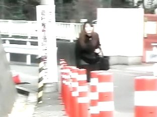 Japanese street sharking of a sexy woman in a skirt