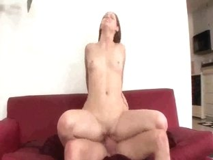 Nasty babe gets filled with jizz