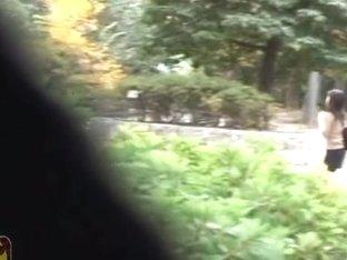 Naked hairy pussy caught on voyeur's hidden camera