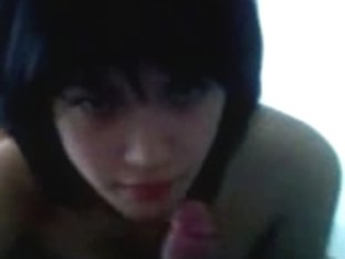 Homemade video of my Asian brunette babe giving me a nice blowjob