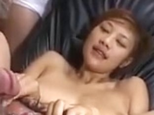 Japanese gets a load of creampie cumshots on her cunt