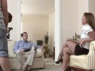 Teen Kathia Nobili double penetrated on a casting