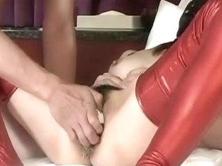 Huge schlong sex toy drilled unrepining bondman