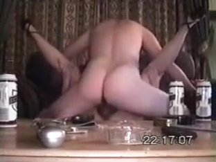 Chubby blond tramp rides my cock in hardcore homemade clip