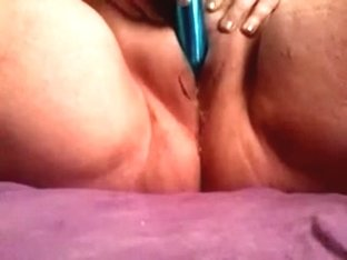 Anonymous overweight doxy plays with her wet crack using a toy