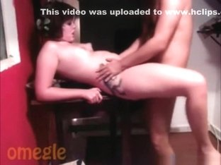 Hot girl loves it when strangers watch her fuck on omegle