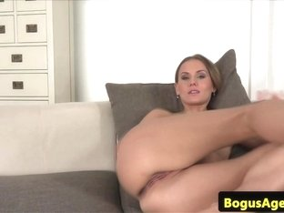 Euro milf casted while sucking cock pov