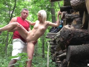 Zazie Skymm in Euro Babe Fucked in the Woods - PublicPickups