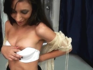 Penni Knightley strips and shows off