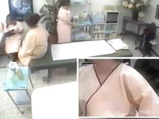 Perfect Jap slut enjoys a hot massage on a hidden camera