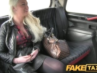 FakeTaxi: Blond glamour model sucks large jock