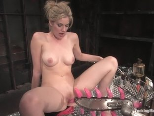 Amazing blonde, fetish xxx video with horny pornstar Fayth Deluca from Fuckingmachines