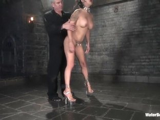 Horny fetish porn scene with hottest pornstar Nadia Styles from Waterbondage