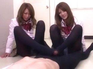 Amazing Japanese chick Risa Tsukino in Incredible Handjobs, Fingering JAV scene