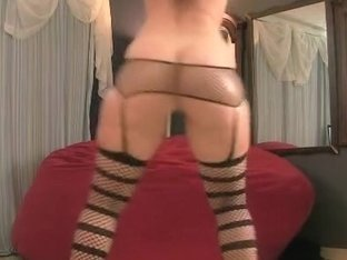 Dressed in fishnet shaking my arse
