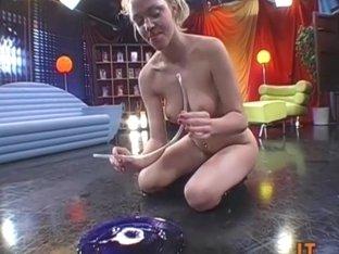 Playful teen cum girl