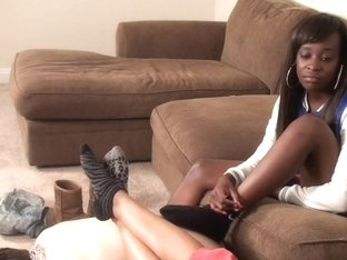 Humble horny boy serves as a chair in fetish video