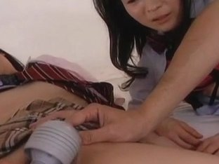 Mai Konishi and doll are fucked in mouths and ride dick