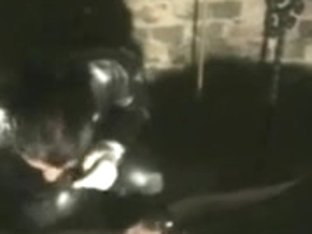 Dominant-Bitch clothed in darksome rubber
