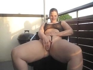 Masturbation on the balcony