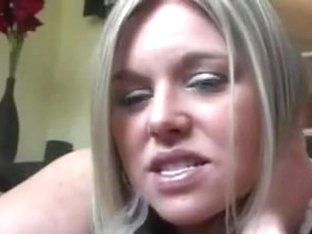 Slutty and playful white blonde girl puffs thick clouds of smoke