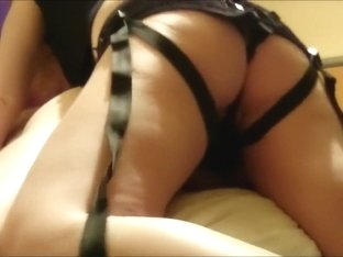 Strapon fucked by Girlfriend