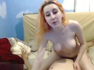 Masturbate2us: cam girl sat on a cock