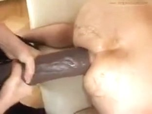rough fucking with a huge dildo