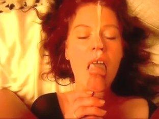 Receiving a facial from a big cock