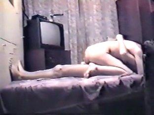Russian girls make a sextape on a potato cam