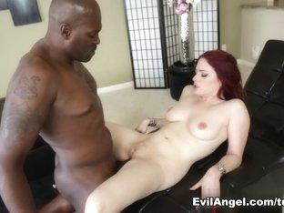 Fabulous pornstars Jessica Ryan, Lexington Steele in Horny Redhead, Interracial porn video