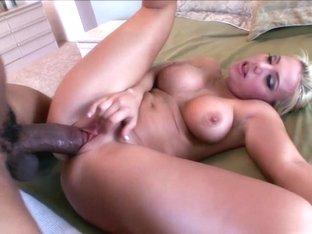 Amazing pornstar Alyssa Jordan in fabulous interracial, facial porn clip