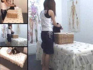 Twiggy hottie enjoys some massage on hidden camera