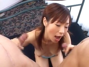 Exotic Japanese slut Hime Ayase in Incredible Gangbang, Cunnilingus JAV clip