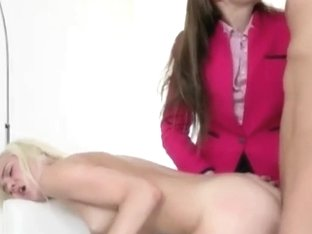 Chloe Foster facialed after 3some action