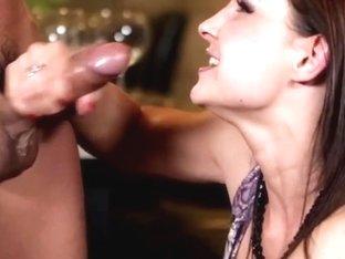 Abbie Cat jizzed on after anal fun