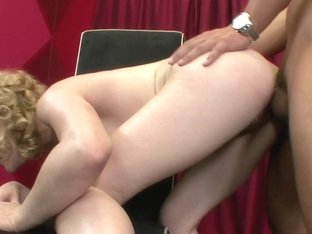Lily Labeau in Lovely Blonde Babe Lily Labeau Gives A Perfect Blowjob Before Riding Cock